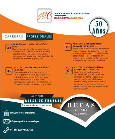 CARRERAS PROFESIONALES EN MARGARITA CABRERA